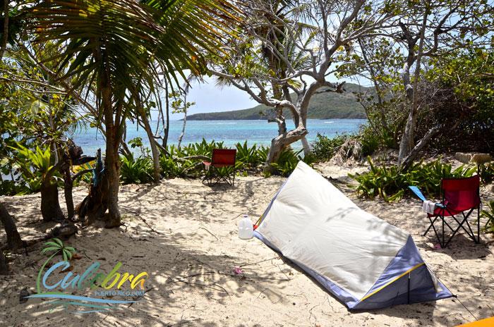 Camping at Flamenco Beach - Culebra Island, Puerto Rico