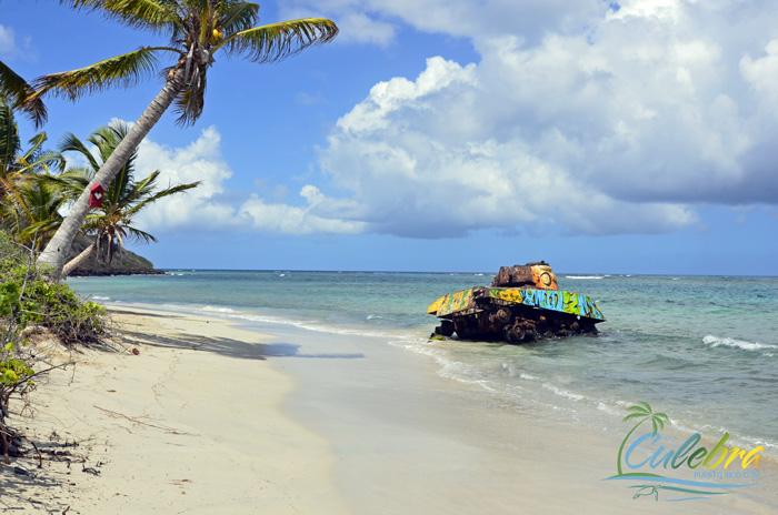 Navy Tank at Flamenco Beach - Culebra, Puerto Rico