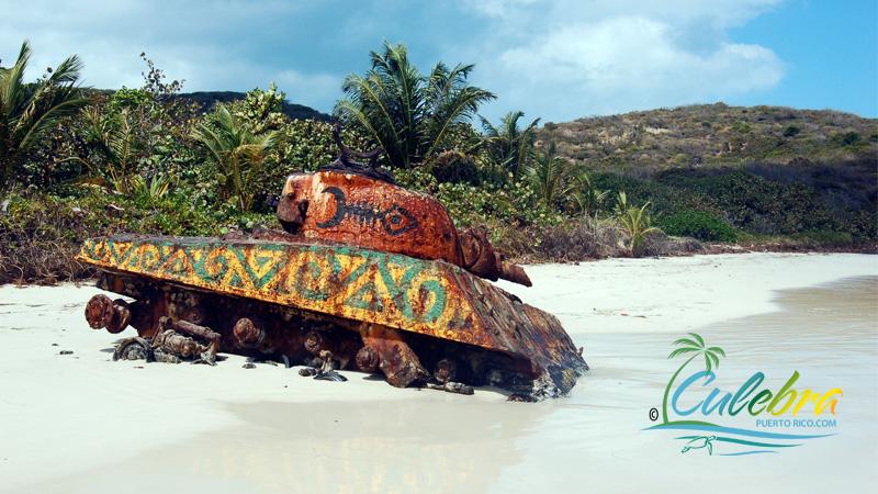 Navy Tank at Flamenco Beach - Culebra Puerto Rico